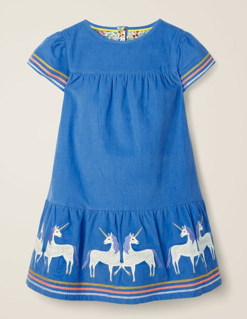 Unicorn Tiered Dress - Elizabethan Blue