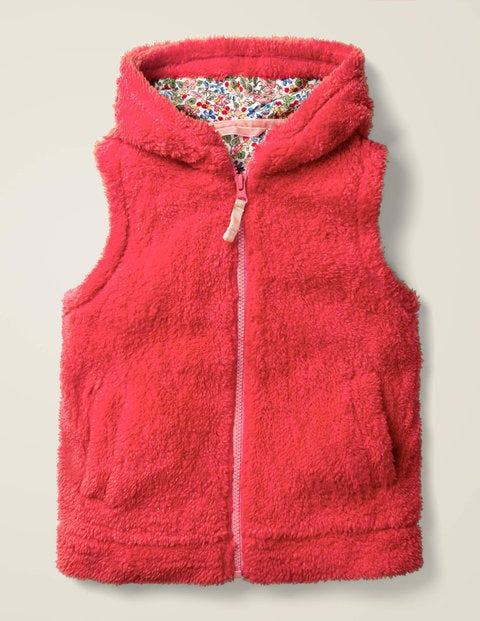 Cosy Vest - Carmine Red