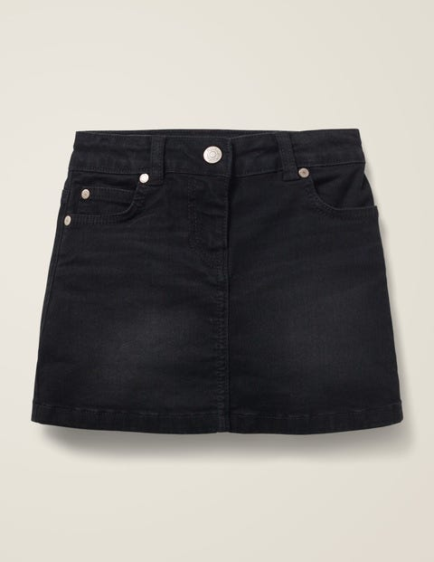 Five Pocket Denim Skirt - Black