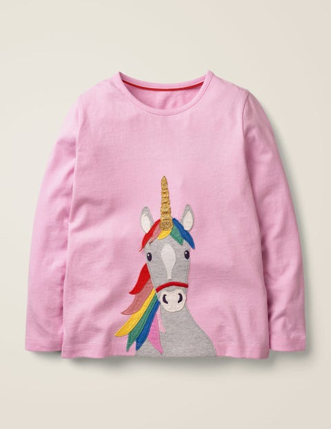 Unicorn Appliqué T-shirt