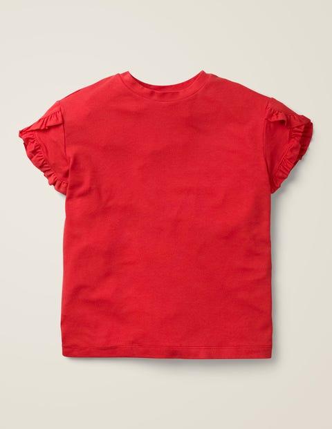 Wrap Sleeve Top - Carmine Red