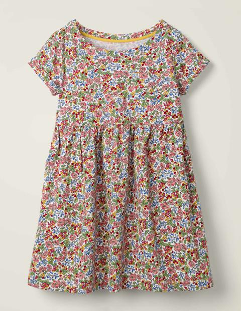 Fun Jersey Dress - Multi Flower Berry