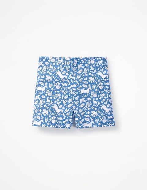 Jersey Shorts - Elizabethan Blue Wild Ponies