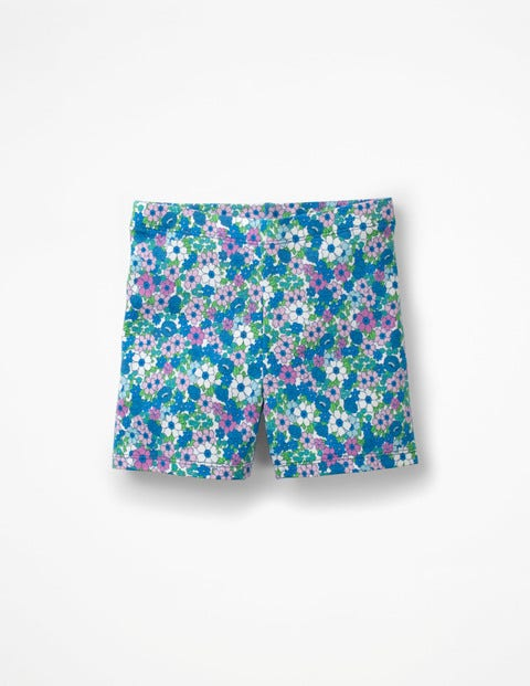 Jersey Shorts - Sea Breeze Forget Me Not
