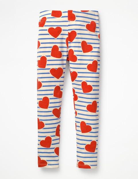 Fun Leggings - Elizabethan Blue Stripe/Hearts