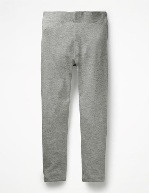 Plain Leggings - Grey Marl