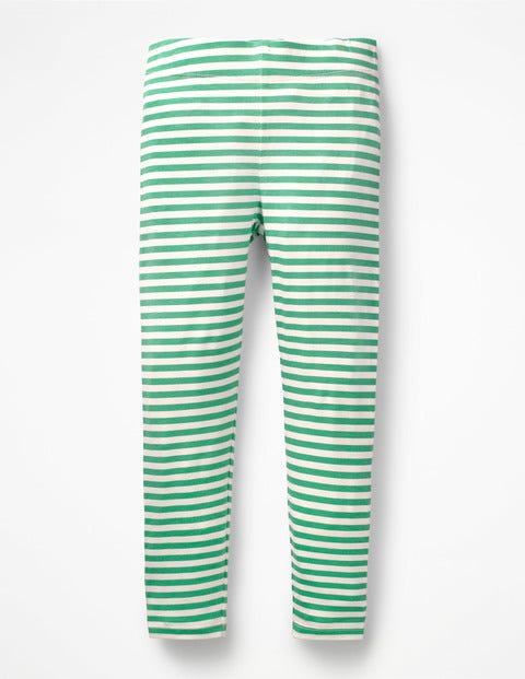 Stripe & Spot Leggings - Jungle Green/Ivory