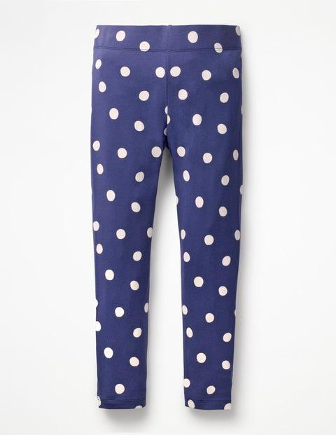 Stripe & Spot Leggings - Starboard Blue Painted Spot