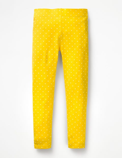 Stripe & Spot Leggings - Sunshine Yellow Pin Spot