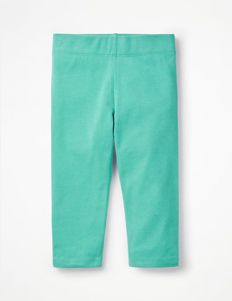Plain Cropped Leggings - Sea Breeze Green