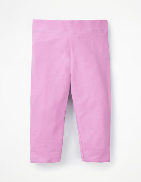 Plain Cropped Leggings - Lilac Pink