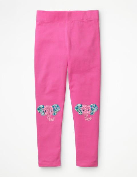 Appliqué Leggings - Tickled Pink Elephants