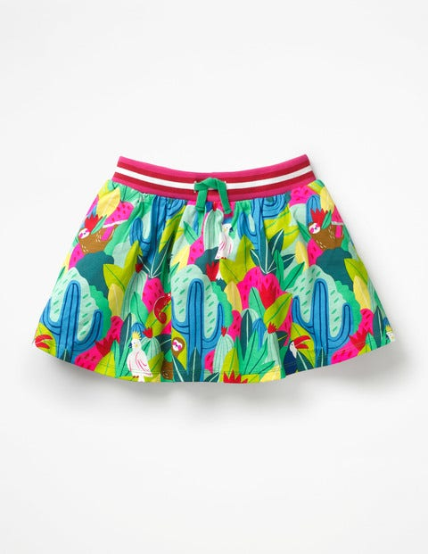 Jersey Skort - Multi Tropical Jungle