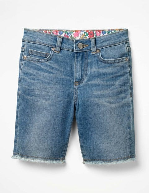 Long Denim Shorts - Mid Vintage Denim