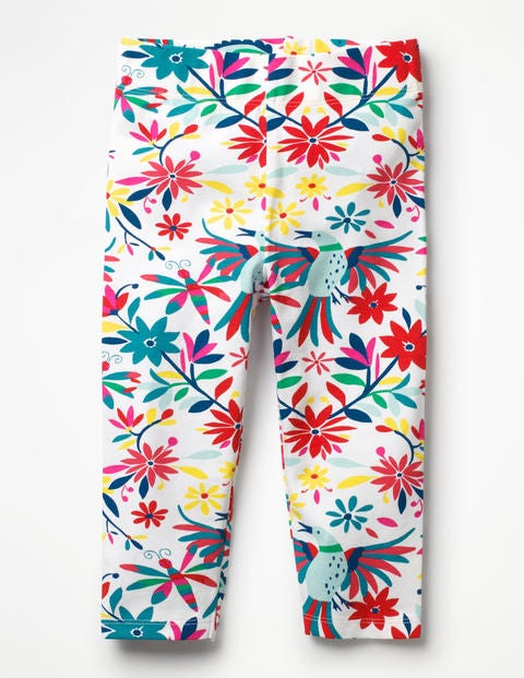 Fun Cropped Leggings - Multi Carnival Birds