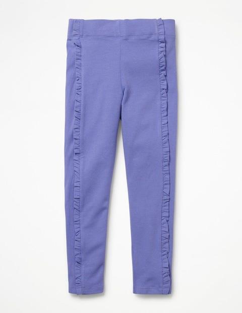 Ruffle Leggings - Dusty Iris Purple