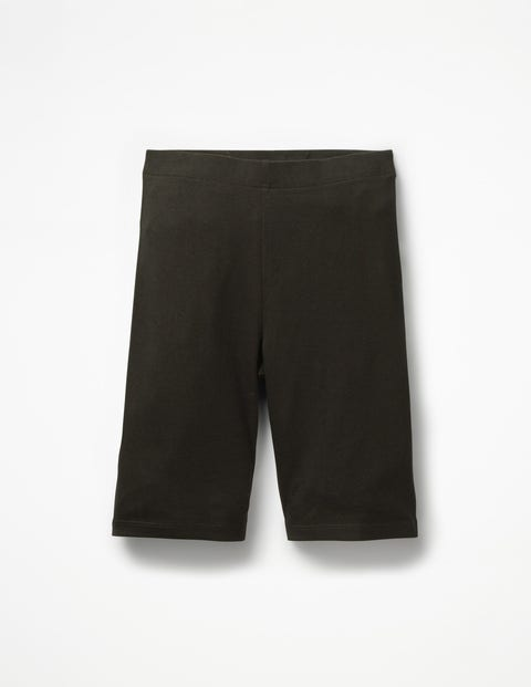 Plain Jersey Knee Shorts - Black