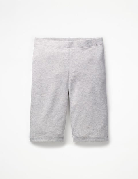 Plain Jersey Knee Shorts - Grey Marl