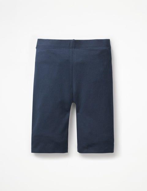 Plain Jersey Knee Shorts - Navy