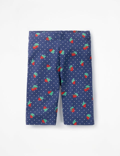 Jersey Knee Shorts - Starboard Blue Strawberry Spot