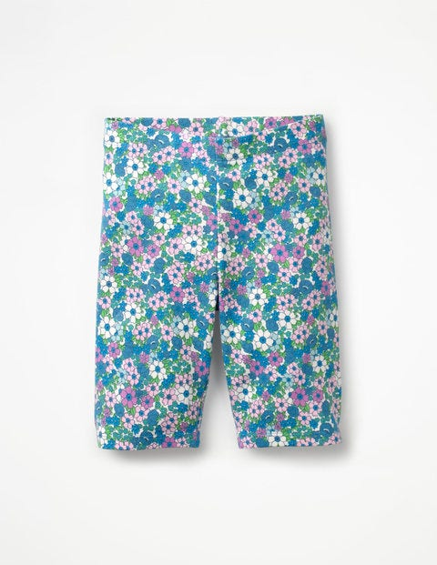 Jersey Knee Shorts - Sea Breeze Blue Forget Me Not