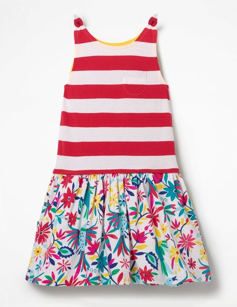 Hotchpotch Jersey Dress - Multi Carnival Birds