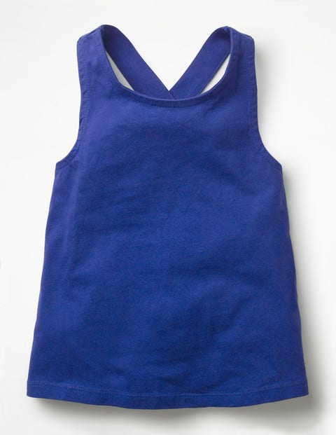 Cross-Back Tank - Blue Wave