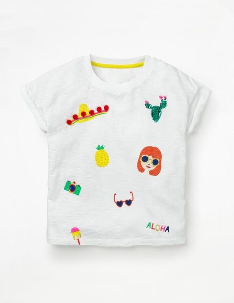 T-Shirt Für Sonnentage - Weiß