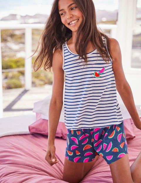 Pyjama Fun Avec Poche - Pastèques bleu tribord