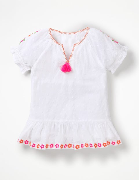Floaty Boho Top - White