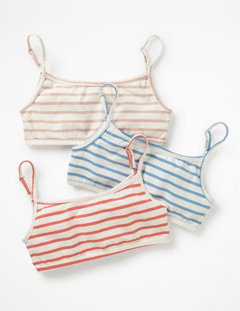 3 Pack Crop Tops - Multi Stripes