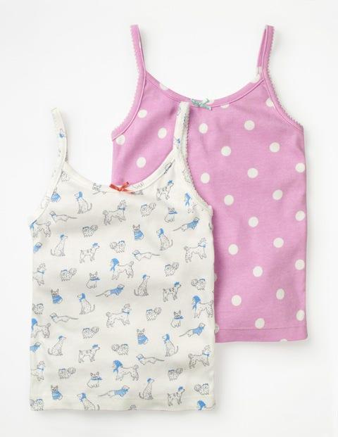 Unterhemden im 2er-Pack Ivory Mädchen Boden, Ivory  |