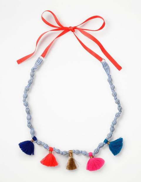 Fabric Necklace - Blue