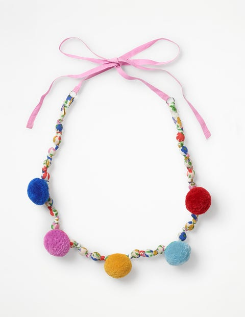 Fabric Necklace - Ecru Jolly Floral