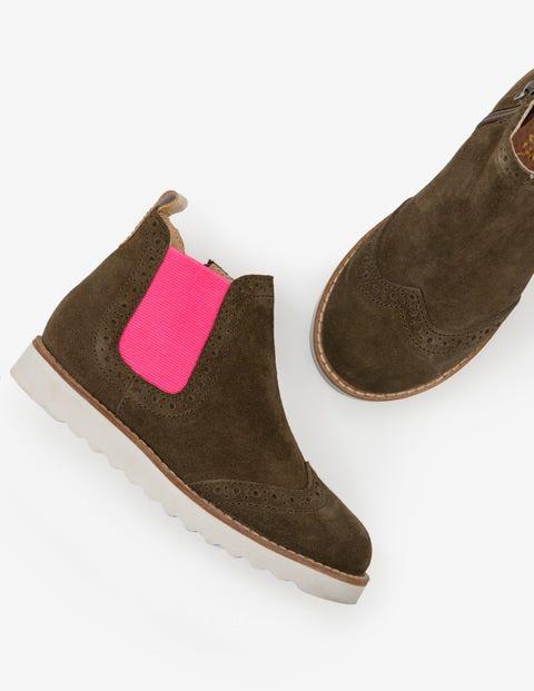 Chelsea-Boots Aus Leder - Militärgrün