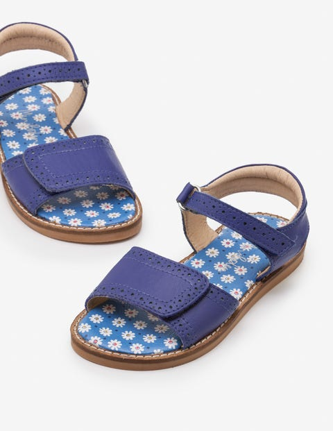 Leather Padded Sandals - Starboard Blue