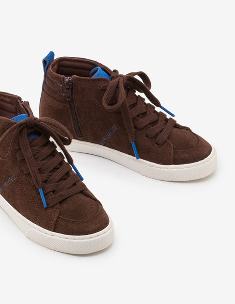 Suede High Tops - Chocolate Brown