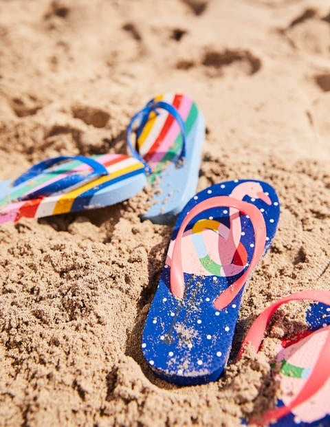 Printed Flip-Flops - Duke Blue