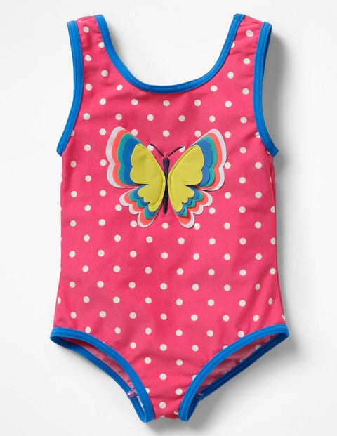 Fun Detail Swimsuit - Pomegranate Pink Butterfly