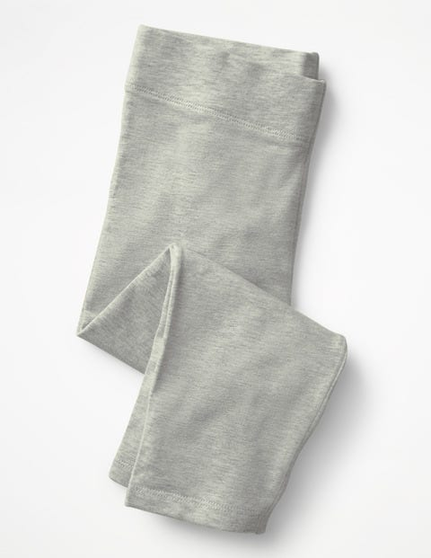 Plain Cropped Leggings - Grey Marl