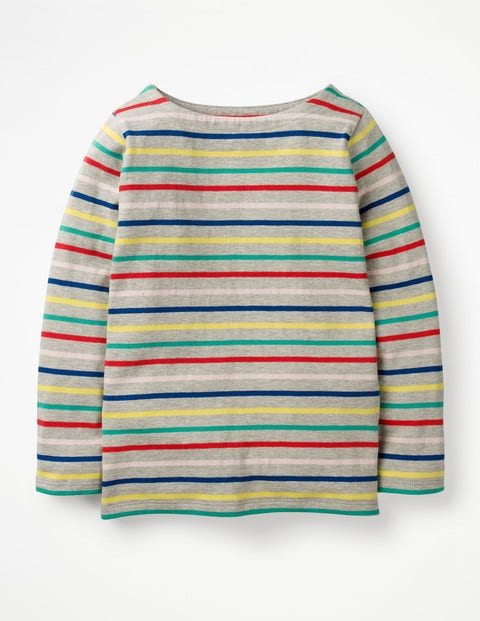 Breton T-Shirt - Grey Marl Rainbow