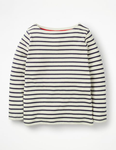 Breton T-Shirt - Ecru/School Navy