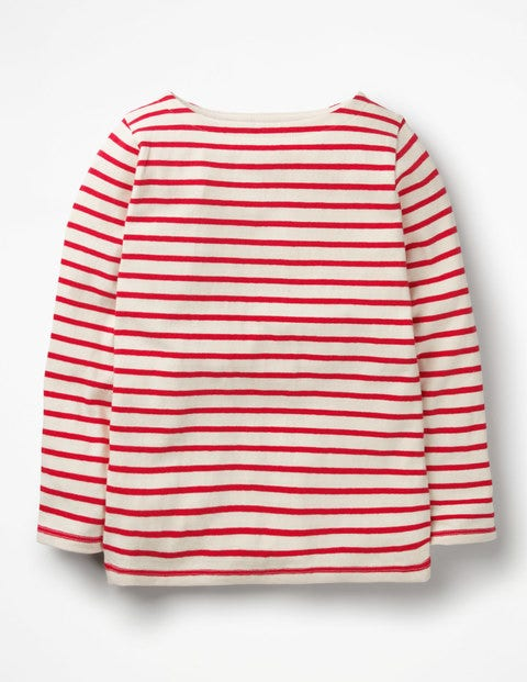 Breton T-Shirt - Ecru/Polish Red