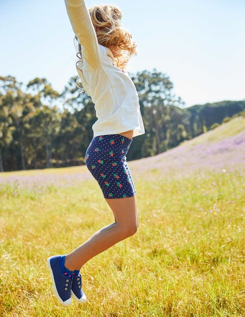 Jersey Shorts - Starboard Blue Strawberry Spot