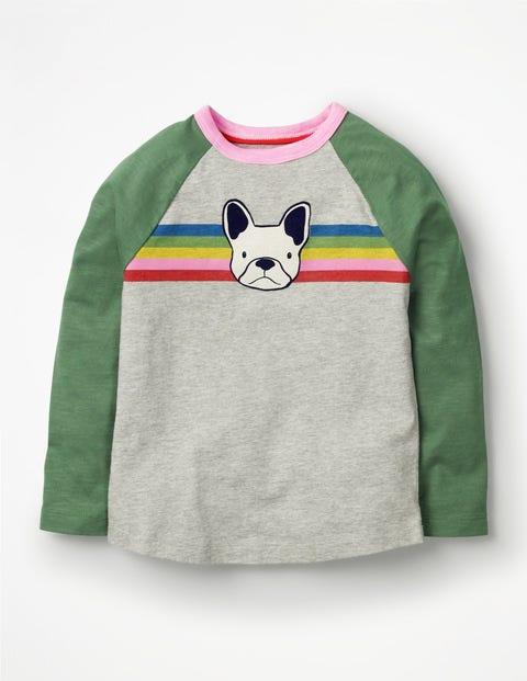 Animal Raglan T-Shirt - Grey Marl Dog