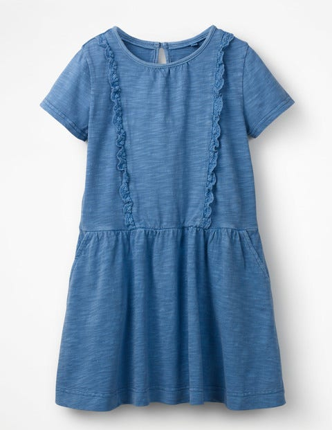 Garment Dye Jersey Dress - Lake Blue