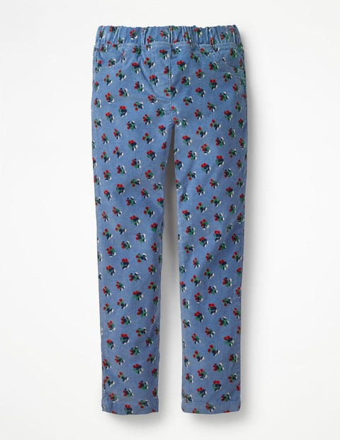 Cord Leggings - Boathouse Blue Vintage Posy