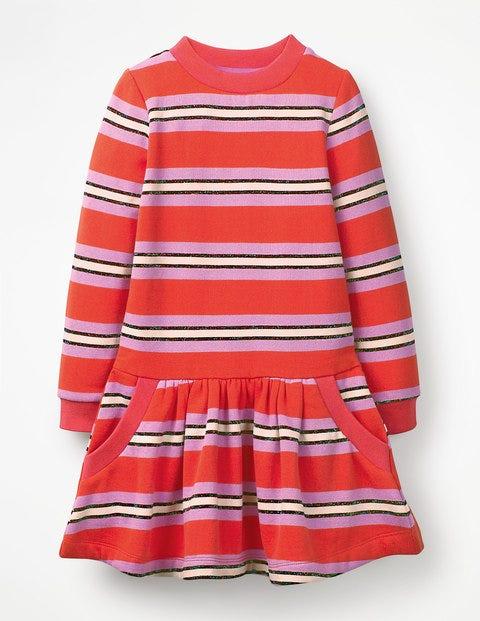 Cosy Sweatshirt Dress - Beam/Lilac Pink Sparkle Stripe