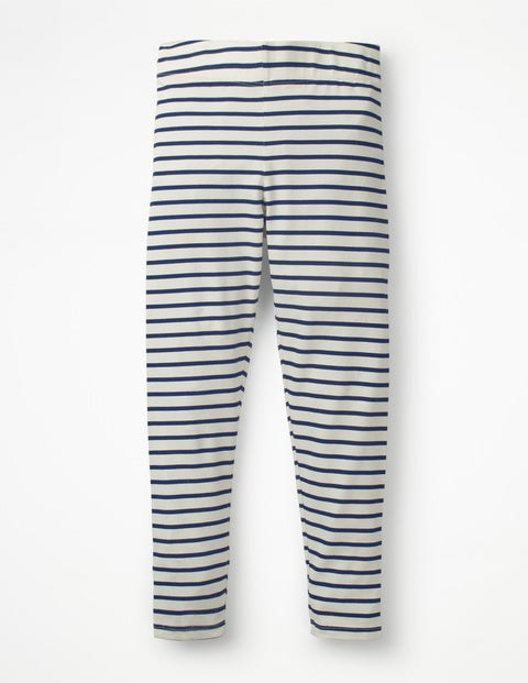 Stripe & Spot Leggings - Ecru/School Navy