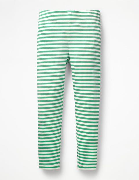 Stripe & Spot Leggings - Jungle Green/Ivory